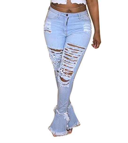 MB Fashion LIGHT BLUE Pants 8707