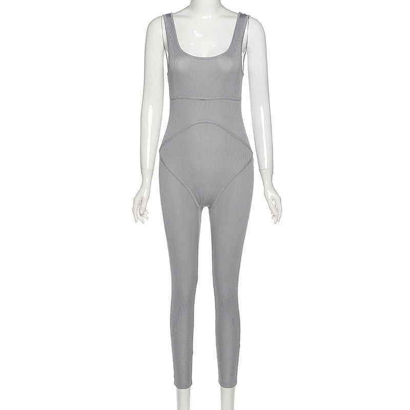 MB Fashion GRAY Jumpsuit 7343