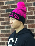 New Design Chicago Knit Soft Pom Pom Winter Hats Unisex