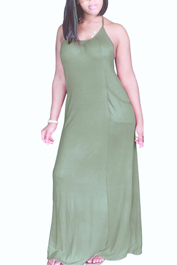 MB fashion Dark sea Green  DRESS 5853