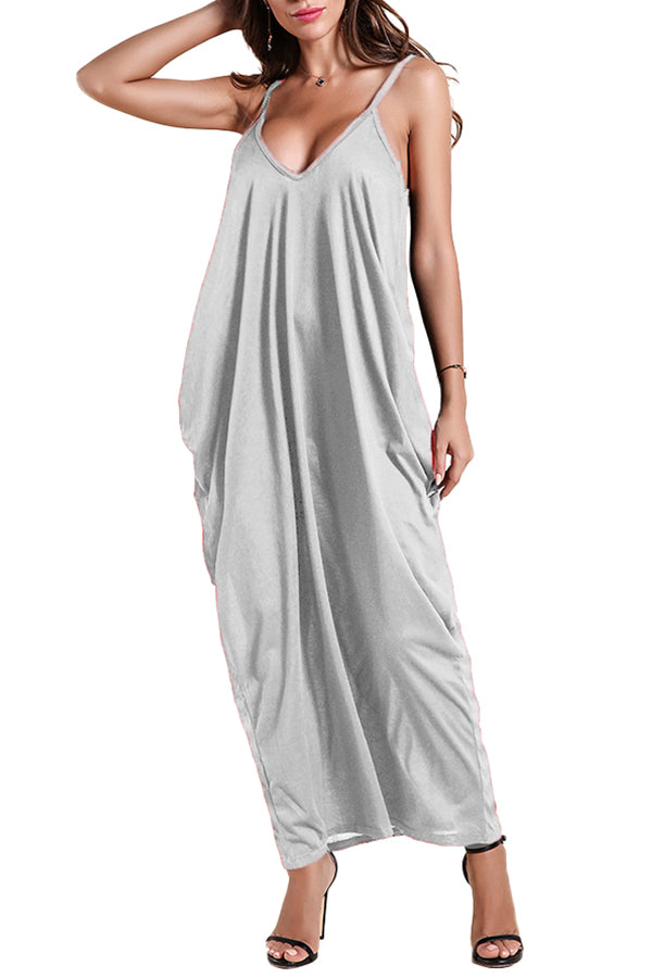 MB Fashion GRAY Long Dress 757