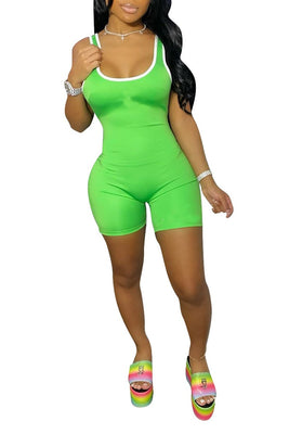MB Fashion NEON GREEN Jumpsuit 8648