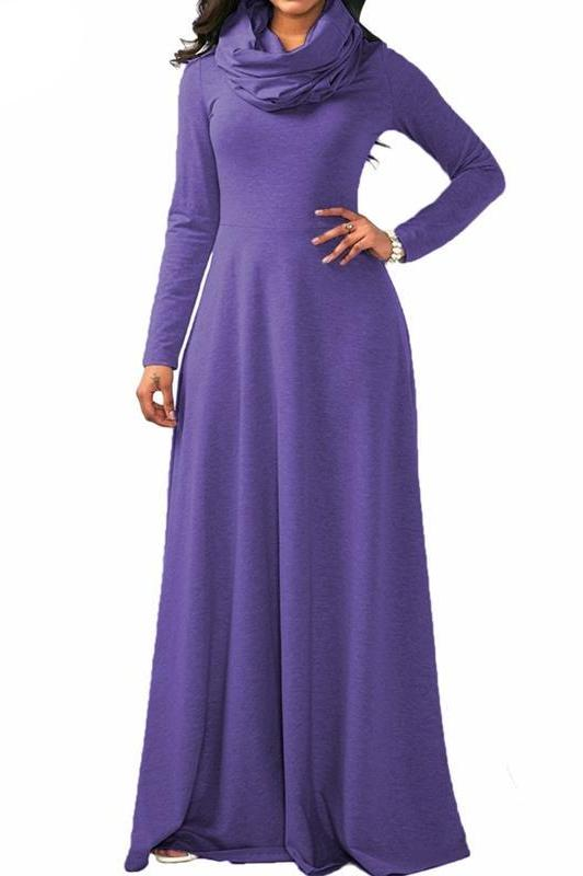 MB fashion Purple Dress Outfit mb 3294