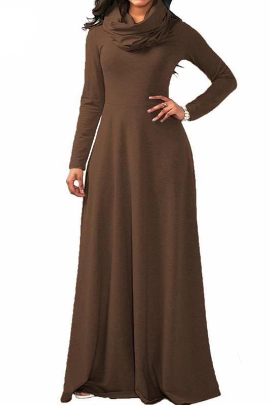 MB fashion Brown Dress Outfit mb 3294