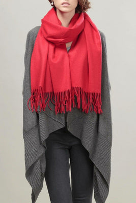 MB Fashion Solid Cashmere Feel Shawl Scarf