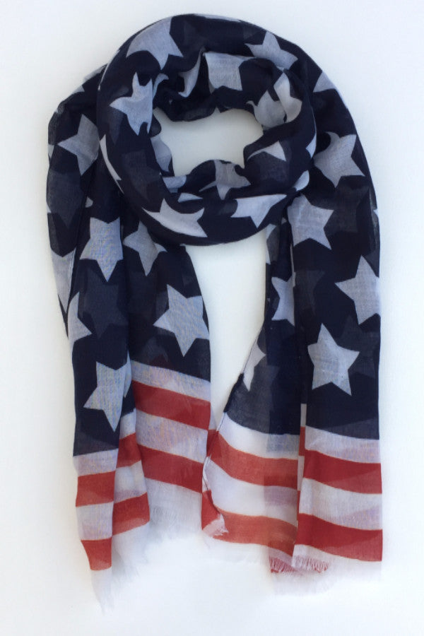 Women's American Flag Scarf / 12 PCS / Pack