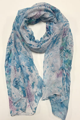 Flowers Blooming Print Infinity Scarf AA 20253 / Assorted pack ( 6 pcs)