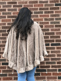 Winter Soft Fur Shawl Poncho T 323 One Size