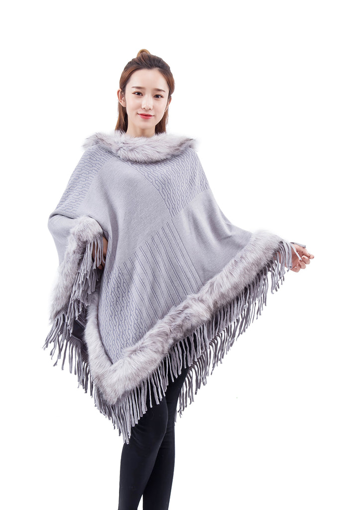 MB fashion FUR Poncho km 3263