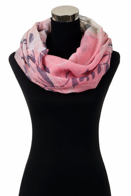 Leaves & Carving Butterfly Print Infinity Scarf ls 800/ Assorted pack ( 6 pcs)