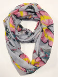 Big & Small Butterflies Print Infinity Scarf AAJZ 485 / Assorted pack ( 6 pcs)