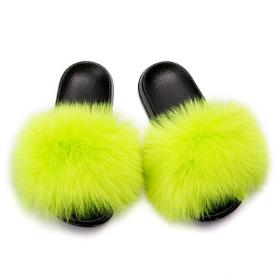 MB Fashion Solid Color 77 Fur Sandals
