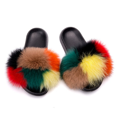 MB Fashion Color 48 Fur Sandals