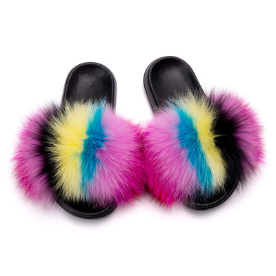 MB Fashion Color 49 Fur Sandals