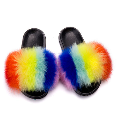 MB Fashion Color 53 Fur Sandals Slides