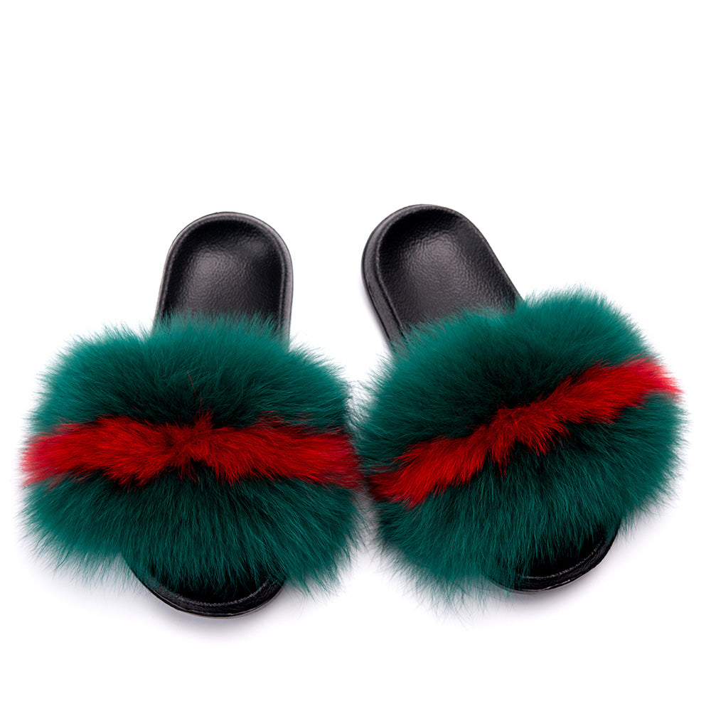 MB Fashion Color 61 Fur Sandals Slides