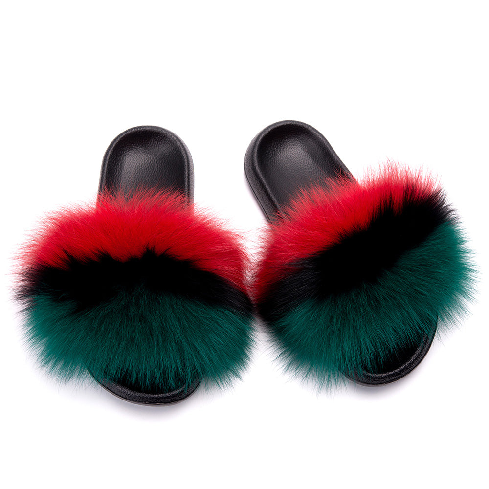 MB Fashion Color 63 Fur Sandals