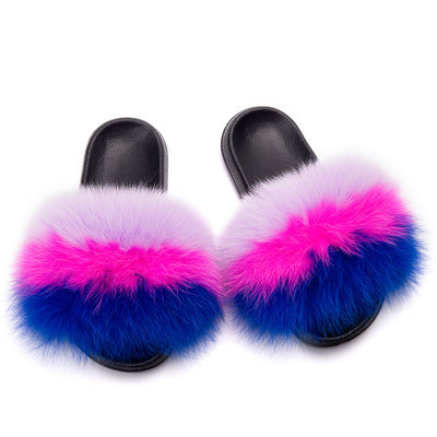 MB Fashion Color 66 Fur Sandals