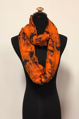 Orange Marilyn Monroe Print Infinity Scarf / Assorted pack ( 6 pcs)