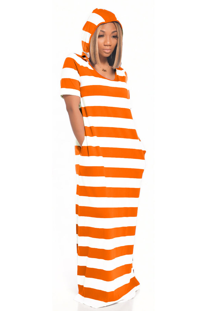 MB Fashion ORANGE Dress 4039