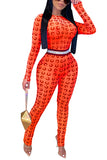 MB Fashion ORANGE Jumpsuits 9834