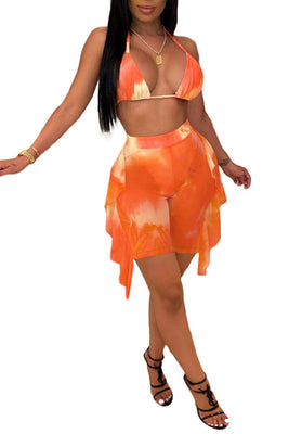 MB Fashion ORANGE 3 PCs Set 4246R