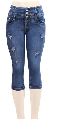 MB Fashion Blue Denim Capri p 2957
