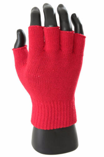 MB Fashion GL 55022 Half Finger Magic Gloves / Assorted Colors / 12 PCS
