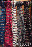 AAS 50017 Fashion infinity Scarf Assorted Colors / 6 PCS