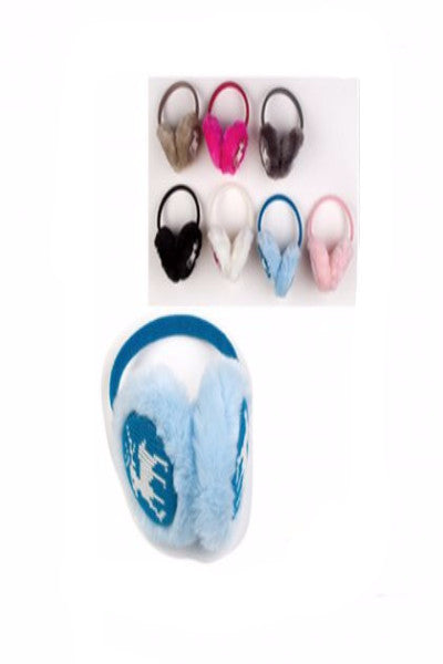 AATE 02 Christmas earmuff / Assorted Colors / 12 Pcs