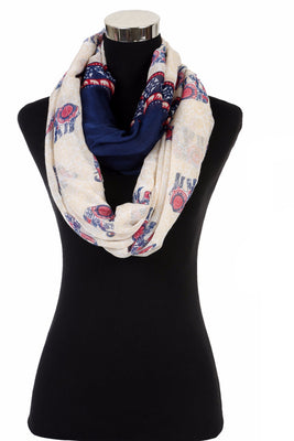 Elephant Print Scarf AATH 860 / Assorted pack ( 6 pcs)