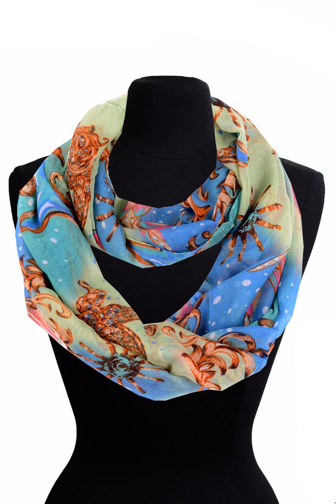 Sea Star Print Infinity Scarf AATH 909 /  Assorted pack ( 6 pcs)
