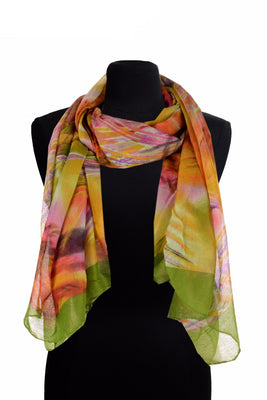 Swirl Pattern Print Scarf AAth 911 /Assorted pack ( 6 pcs)