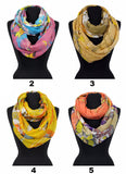 Wild Animal Pattern Print Infinity Scarf AATH 913 /  Assorted pack ( 6 pcs)