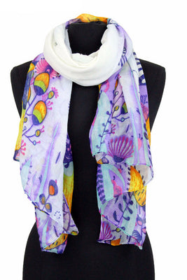 Colors Floral Print Scarf TH 916  /  Assorted pack ( 6 pcs)