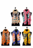 Spotted Rose Print scarf AATH 918 / Assorted pack ( 6 pcs)