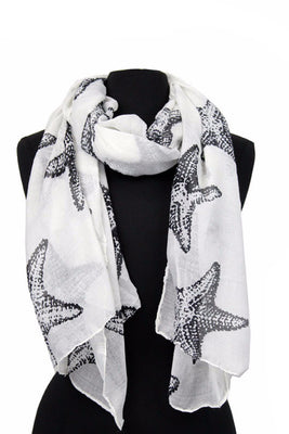 Sea Shell Print Scarf AATH 919 / Assorted pack ( 6 pcs)