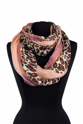 Spots & streaks Print Infinity Scarf  XY 555 / Assorted pack ( 6 pcs)