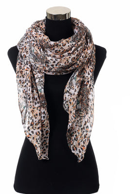 Leopard Print Scarf AAZZ 704 / Assorted pack ( 6 pcs)