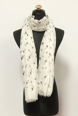 Little Star Print Scarf AA 20261 / Assorted pack ( 6 pcs)