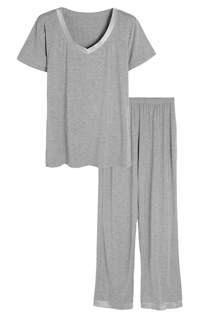 MB Fashion Pajama Gray 2 PCs Set 6194