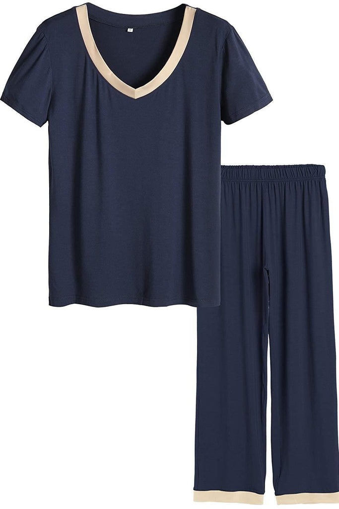 MB Fashion Pajama Navy 2 PCs Set 6194