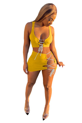 MB Fashion YELLOW 2 PCs Set 8164R