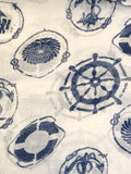 Sea Anchor Print Scarf 920 / Assorted 6 PCs /Pack