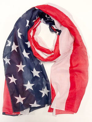 MB Fashion 4th Of July American Flag Big Scarf FX 154