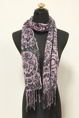 Rose Circle Fold Print Scarf AAH 20 / Assorted pack ( 6 pcs)