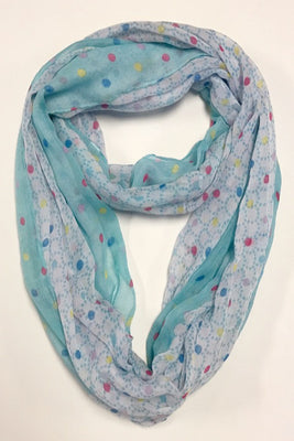 Big Small Polka Dots Print Infinity Scarf AArr 412 / Assorted pack ( 6 pcs)