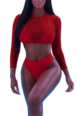 MB Fashion RED 3 PCs Swimsuits 5464