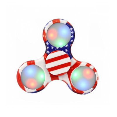 MB Fashion LED Night Light American Flag Hand Spinner