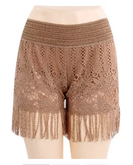 Summer Lace Crochet Shorts 6 Pcs / Pack